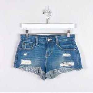Old Navy Blue Denim Boyfriend Shorts Size 0